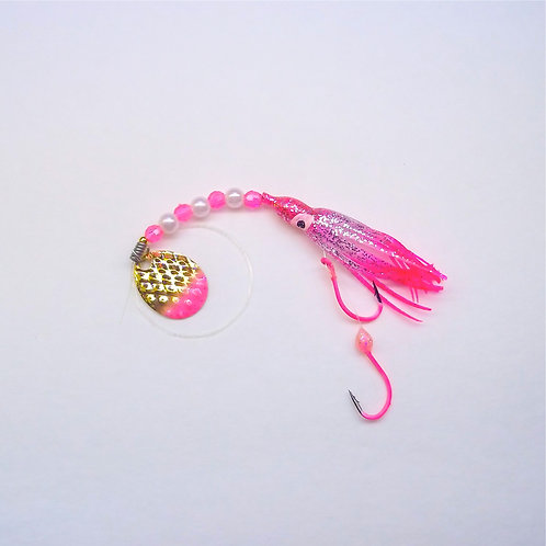 Silver Glitter Pink & Pink Spinner 1 3/4 Inch