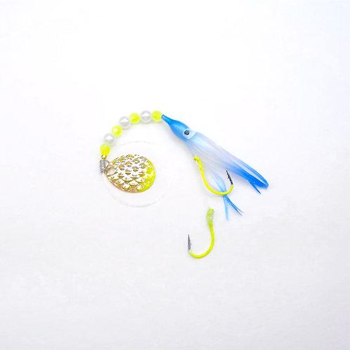 UV Pearl Blue & Blue Spinner 1 3/4 Inch