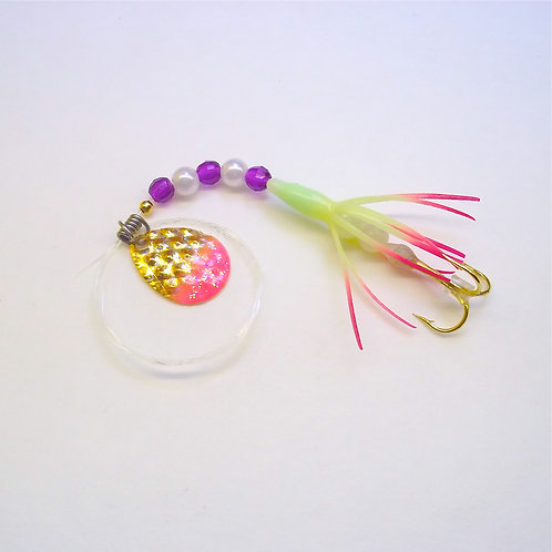 Glow & Purple Super Micro Spinner 1 3/8""