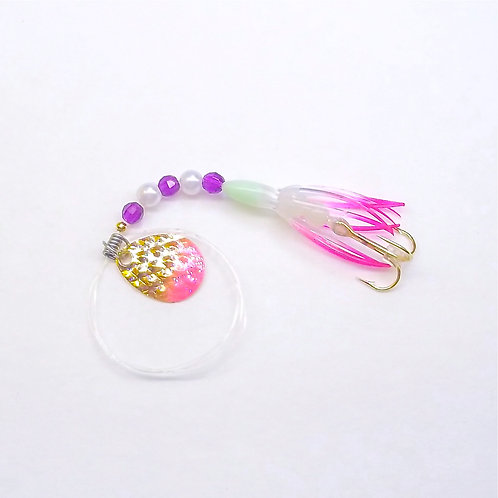 UV Clear & Purple Super Micro Spinner 1 3/8""