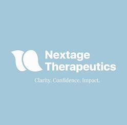 Nextage Therapeutics white logo