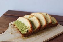 Vanilla-Matcha Pound Cake