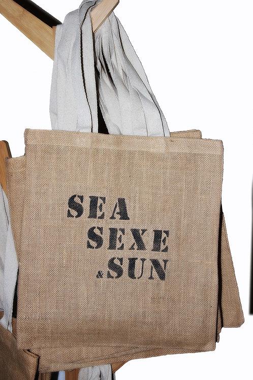 SEA SEXE & SUN toile de jute