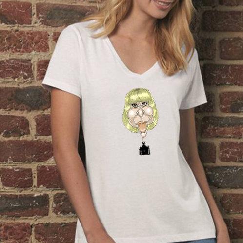 Tee shirt caricature couleur pour elle
