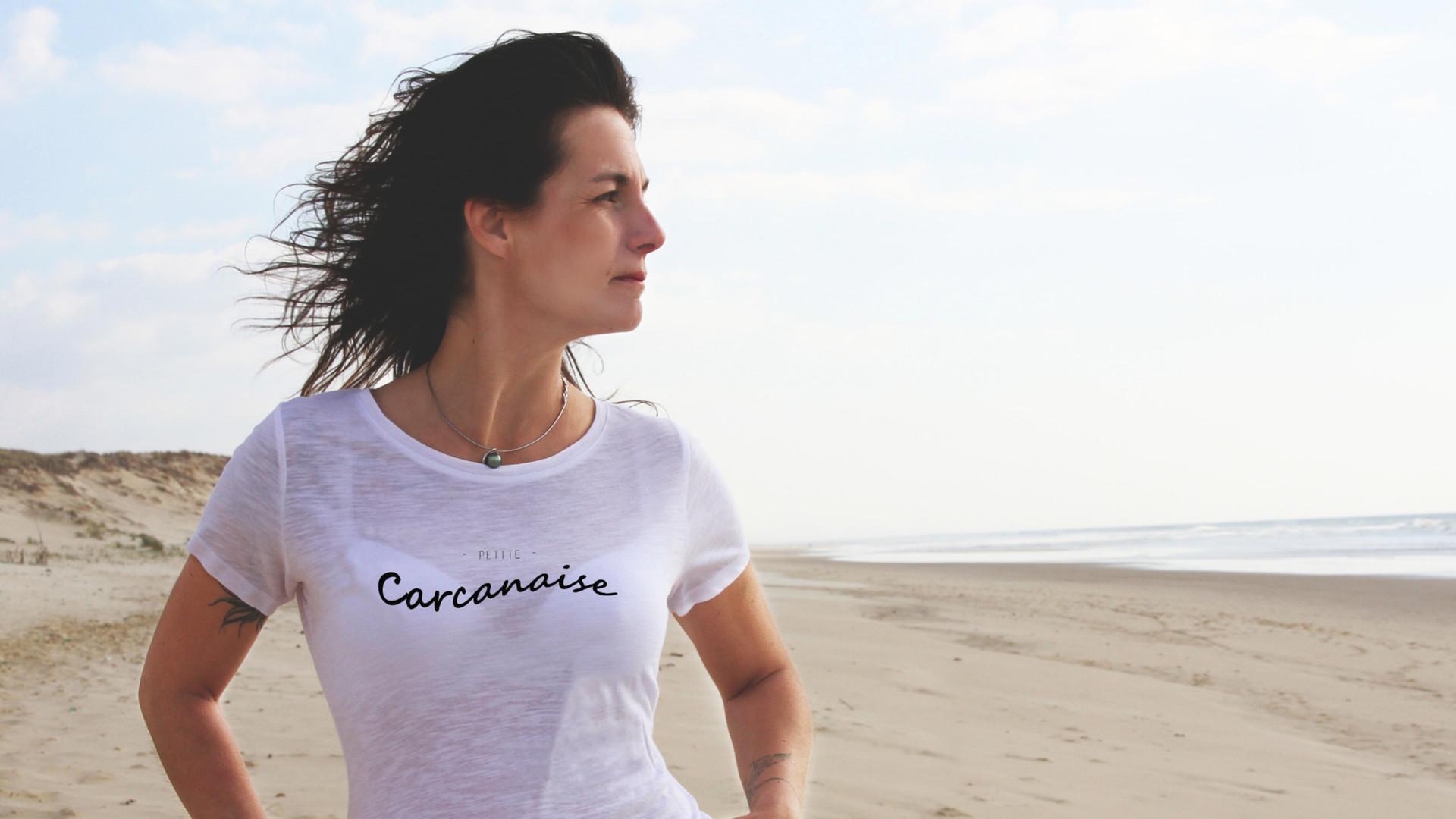 Tee shirt bio  femme Carcanaise