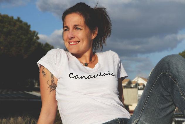 Tee shirt bio Petite Canaulaise made in Lacanau sud ouest France