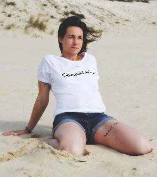 Le tee-shirt bio Canaulaise Atlanticorigin marque française de tee shirt bio