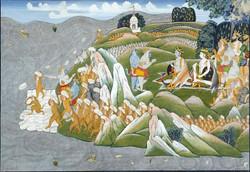 Hanuman La construction du pont pour