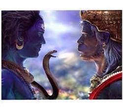 Shiva et Hanuman