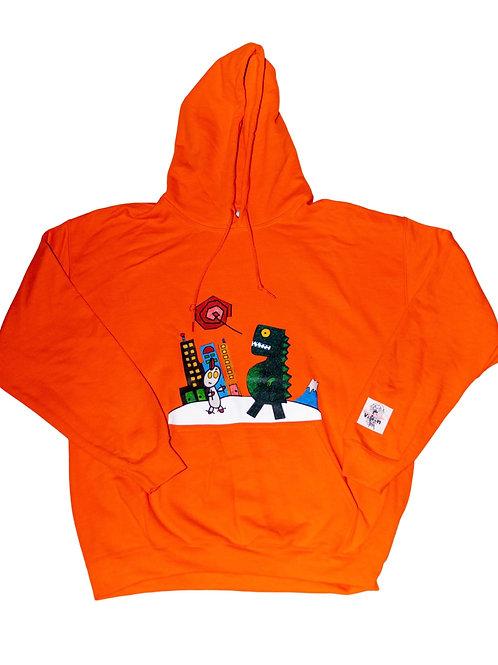 Orange Japanese Hoodie