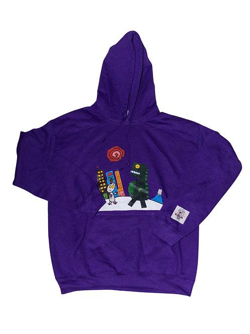 Purple Japanese Hoodie