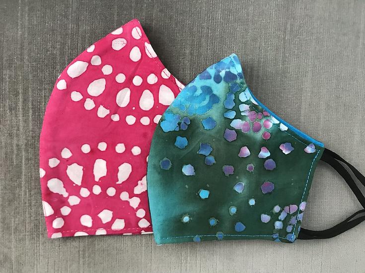 Pink or Aqua Batik Print ($8 - $12)