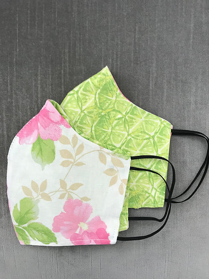 Pink Floral with Reversible Limes ($7 - $12)