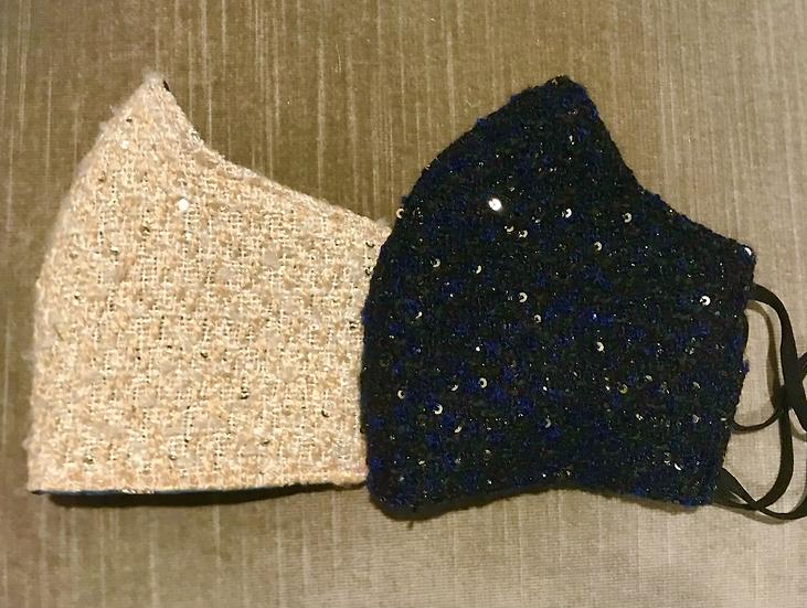 Sequin Tweed Mask ($12 - $14)