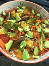 Avocado Persimmon Salad