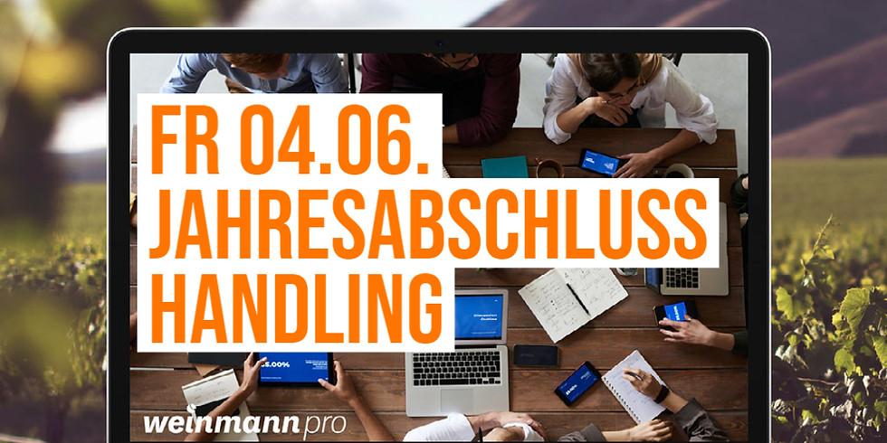 13:00 Uhr - 14:00 Uhr Jahresabschluss Handling in Weinmann pro (29,00 €)