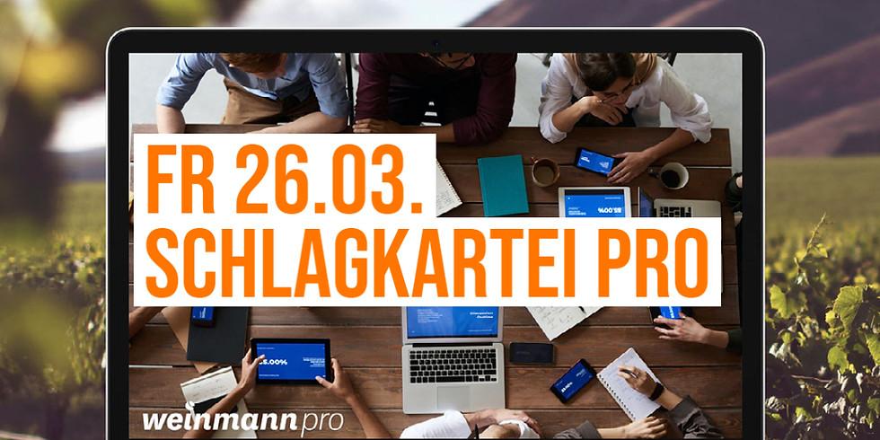 13:00 Uhr - 14:00 Uhr Schlagkartei in Weinmann pro (29,00 €)