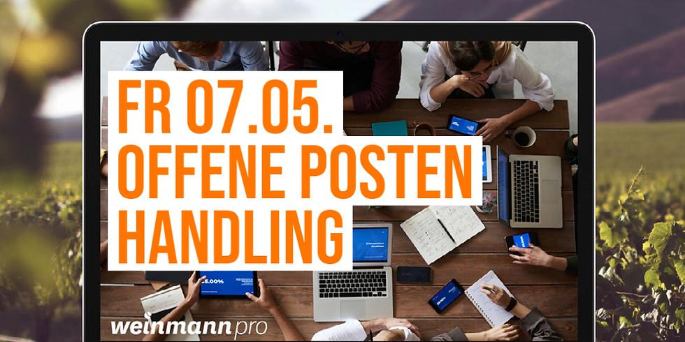 13:00 Uhr - 14:00 Uhr Offene Posten Handling in Weinmann pro (29,00 €)
