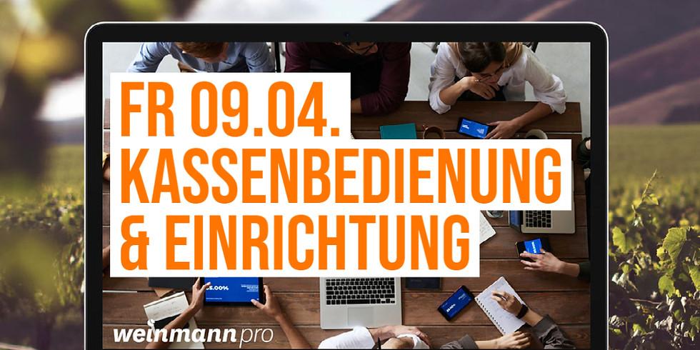 13:00 Uhr - 14:00 Uhr Kassenbedienung und Einrichtung in Weinmann pro (29,00 €)