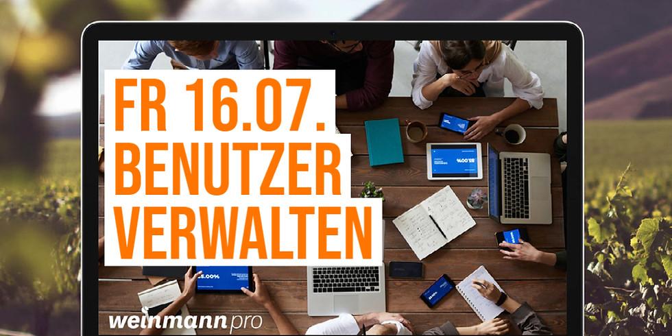 13:00 Uhr - 14:00 Uhr Benutzer verwalten in Weinmann pro (29,00 €)