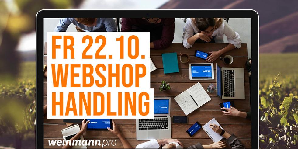 13:00 Uhr - 14:00 Uhr Webshop Handling in Weinmann pro (29,00 €)