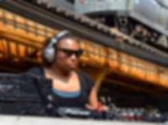 DJ Lady D, Silver Room Block Party, Chicago, 2014. Photog: M. Billye Sankofa Waters. DO NOT COPY WITHOUT BOTH PERMISSION AND CREDIT. info@blackgirlgold.org