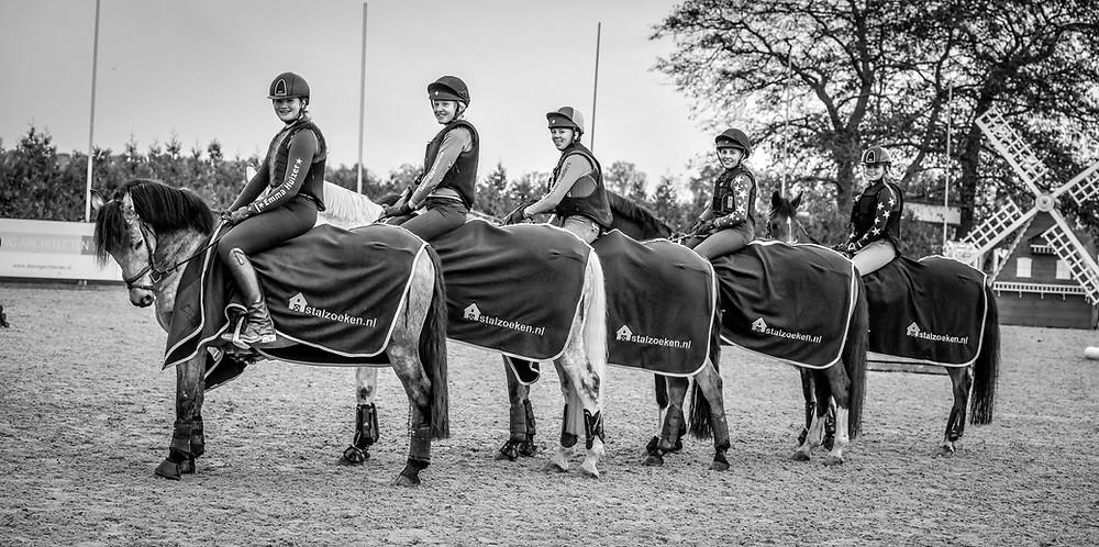 Team 'The Crazy Ponies' ponywinnaars 2019. Beeld: ESVEO Fotografie