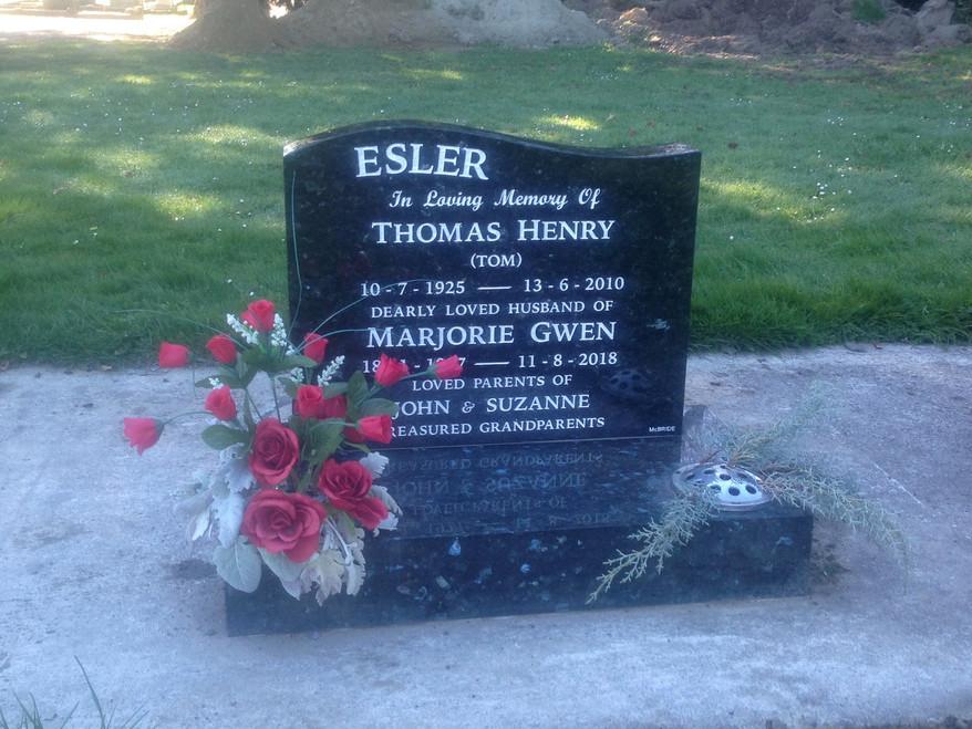 Headstone - Esler