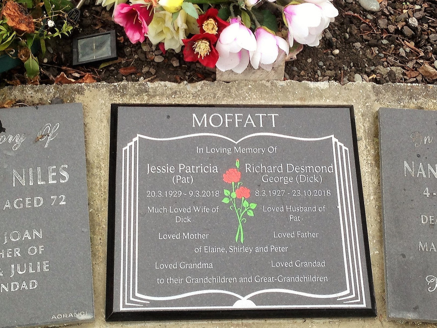 Granite Plaque - Moffatt
