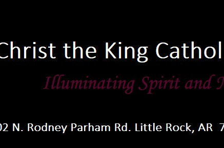 Speaking at Christ the King Catholic School - Little Rock:  Nov. 20, 2019