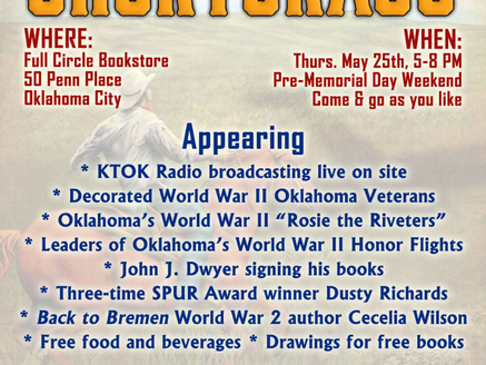 Radio KTOK WWII Roundtable Discussion, Book Signing at Full Circle Bookstore in OKC - Thursday, May