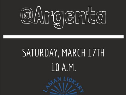 Author Talk at Argenta Library:  420 Main, North Little Rock, March 17th, 10am