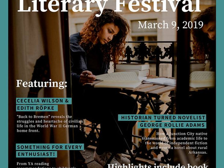 Keynote Speaker at the South Arkansas Literary Festival - Saturday, March 9th, El Dorado Convention
