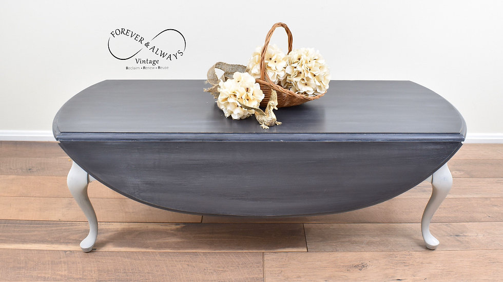 Refurbished Chalk Painted Coffee Table