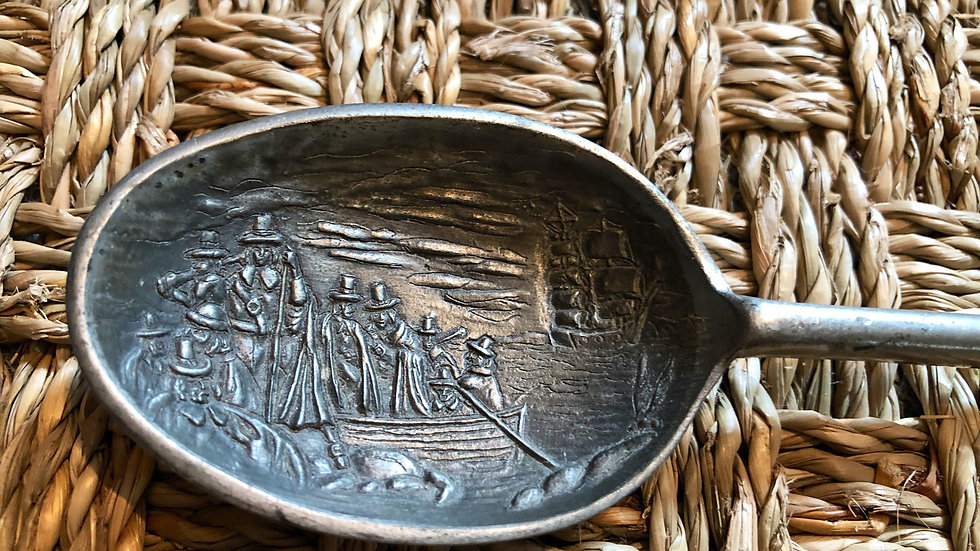 Intricately Etched and Stamped Vintage Spoon