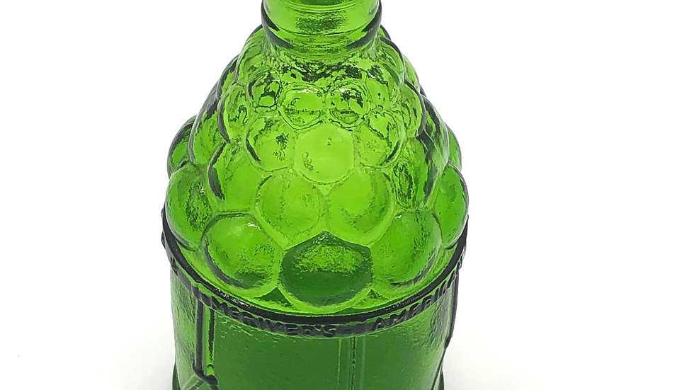 Wheaton Green Glass Grape Motif Bitters