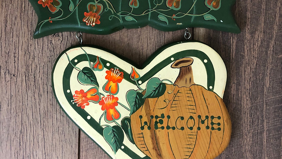Vintage Welcome Fall Decor Sign