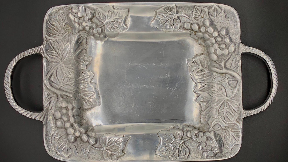 Serving Tray with Handles - Grape Motif