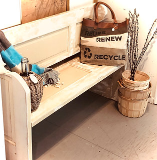 Repurposed Door-Bench