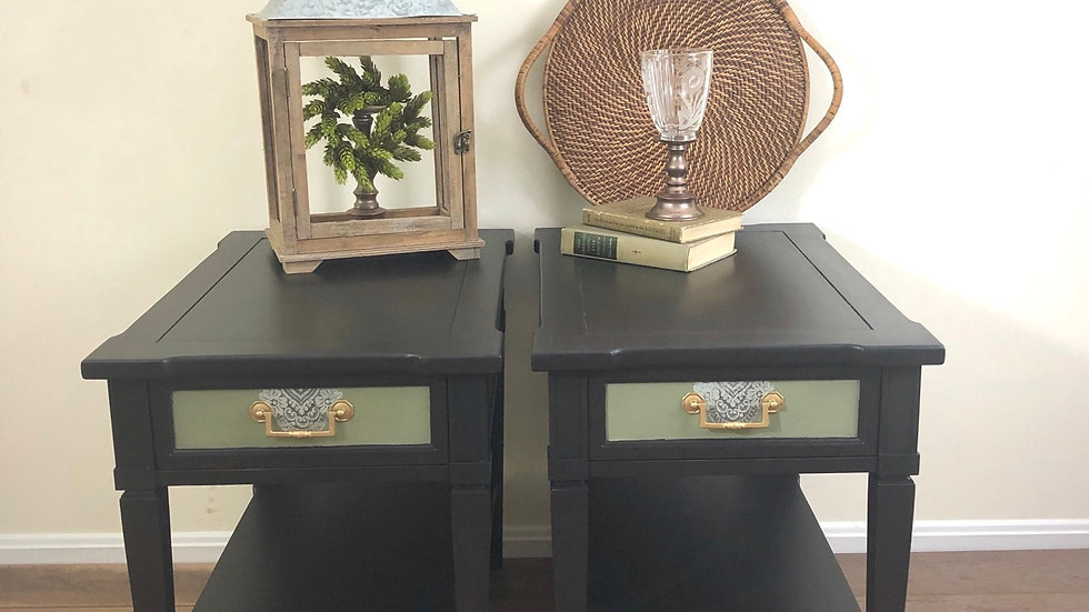 Repainted Matching Side Table