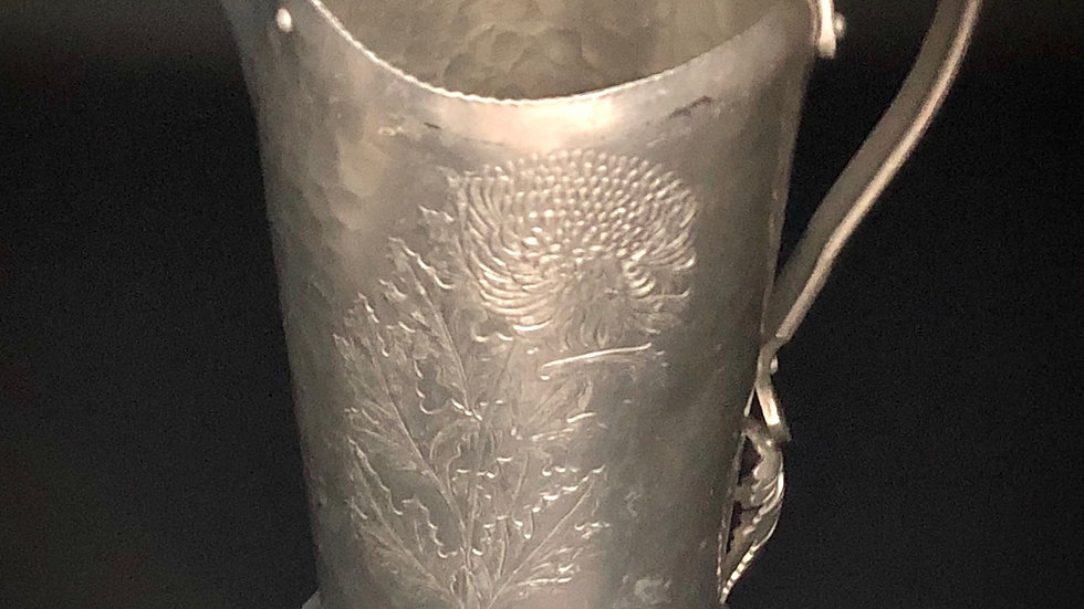 Etched Chrysanthemum Pitcher