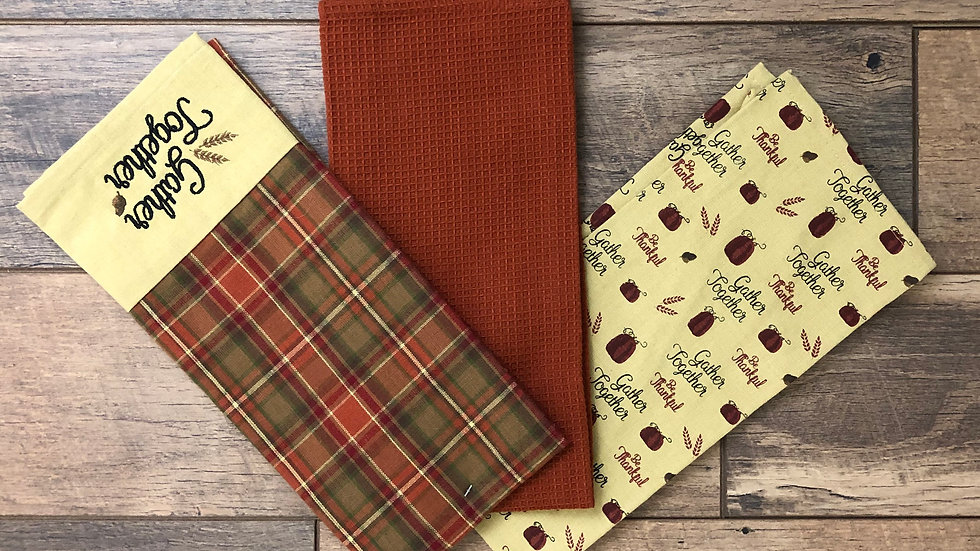 Three Fall Decor Kitchen Towels