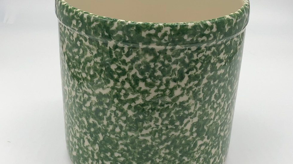 Green Roseville Spongeware Pottery