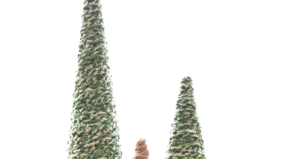 Set of Three Handmade Yarn Trees