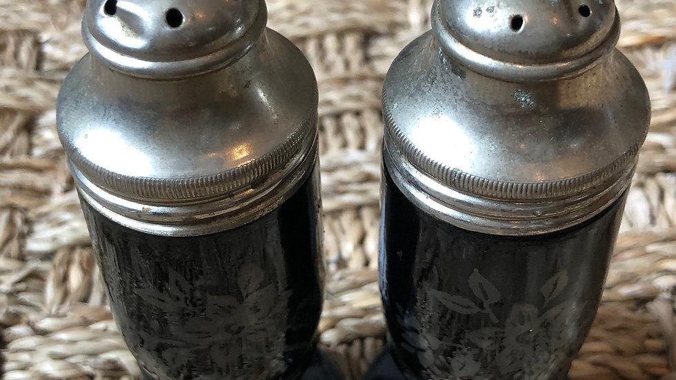 Art Deco Hand Painted Salt & Pepper Shaker