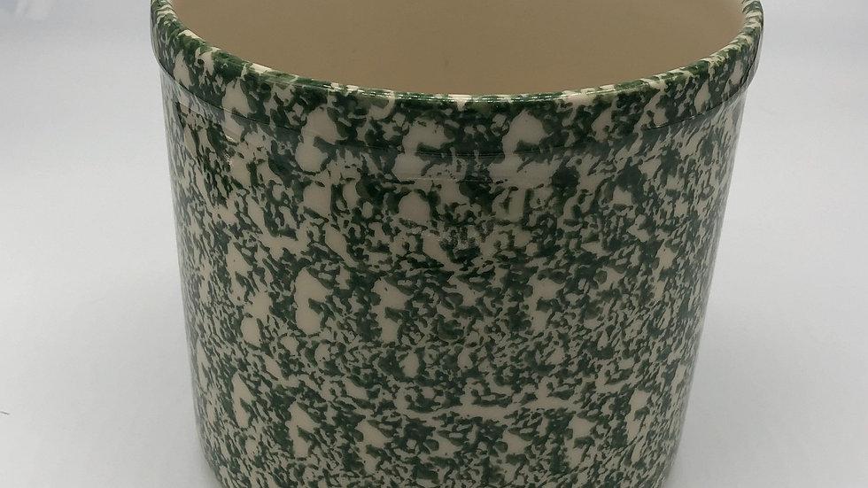 Green Roseville Spongeware