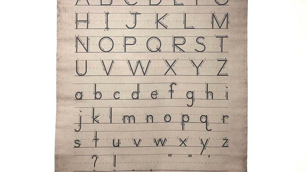 Wall Tapestry Alphabet Scroll