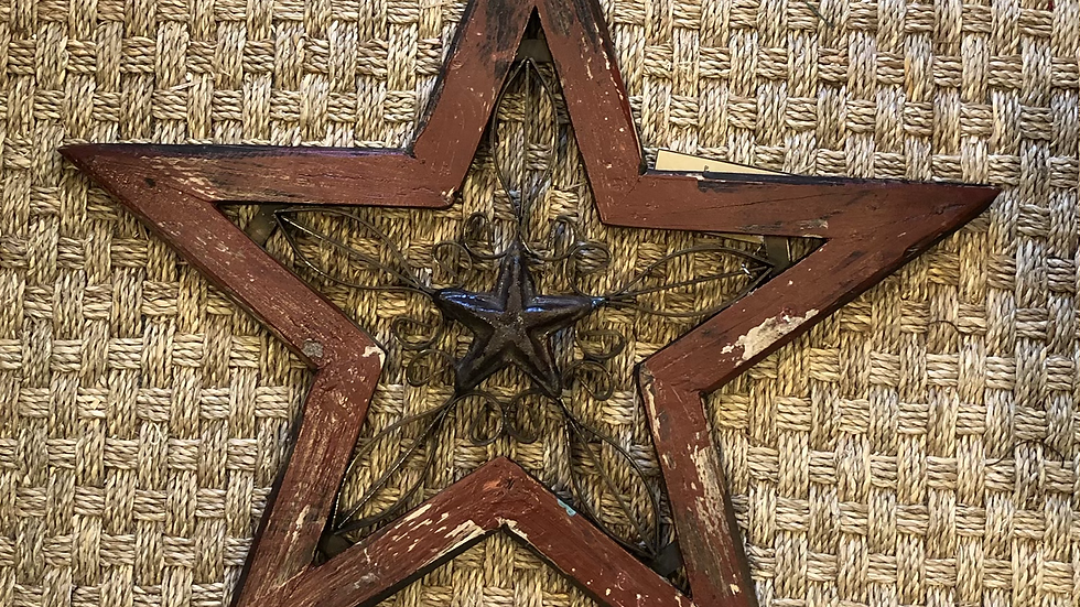 Recycled Wooden and Metal Star