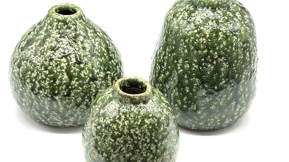 Set of 3 Green Vase