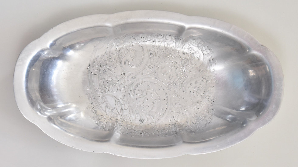 Etched Oblong Vintage Tray